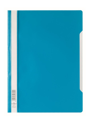 Durable 2573-06 Polypropylene Clear View File Folder, A4 Size, Blue