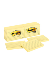 3M Post-It 635 Lined Sticky Notes, 76 x 127mm, 12 x 100 Sheets, Yellow
