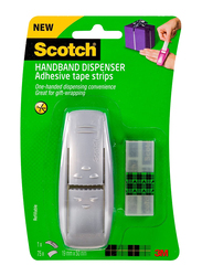 3M Scotch Handband Tape Dispenser for Gift Wrap, Grey