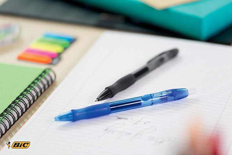 BIC Gelocity Medium Point 0.7mm Retractable Gel Ink Pen, Red