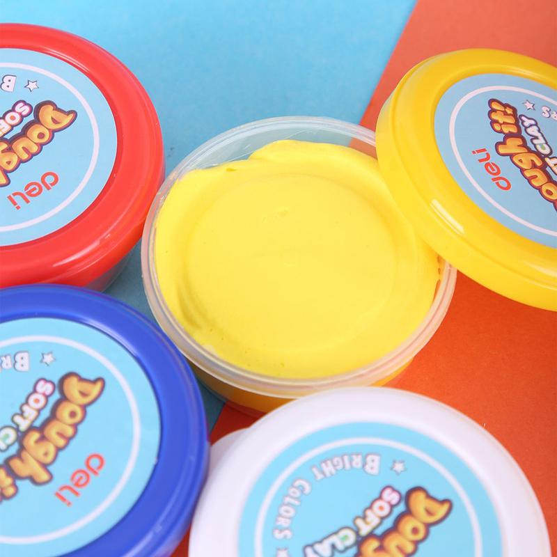Deli ED85000 Soft Clay, 4 Pieces, Multicolor
