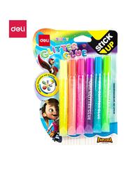 Deli EA71301 Glitter Glue, 6 Pieces, 12ml, Multicolor