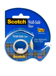 3M Post-it 183 Wall Safe Tape with Roll Dispenser, 19mm X 16.5 Meter, Blue