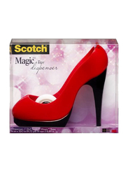 3M Scotch Shoe Shape Dispenser with Scotch Magic Tape, Red