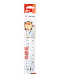 Deli EG00112 Plastic Ruler, 150mm, Clear