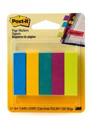3M Post-It 670-5AU Page Marker, 12.7 x 47.6mm, 5 x 100 Sheets, Multicolor