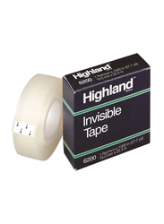 3M Highland 6200 Invisible Tape, 19mm x 36Yards, Clear