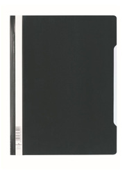 Durable 2570-01 PVC Clear View File Folder, A4 Size, Black