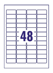 Avery L6009-20 Heavyduty Labels for B/w Laser Printer, 48 x 20 Pieces, Silver