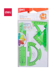 Deli 602 4-Piece Drafting Set, Multicolor