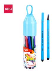 Deli EC10506-FELT Triangle Color Pen, 12 Pieces, Multicolor