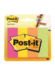 3M Post-It 671-4AF Page Marker, 2.22 x 7.3cm, 4 x 50 Sheets, Multicolor