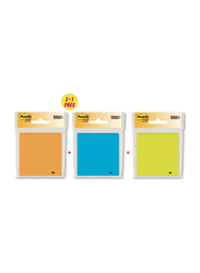 3M Post-it Rio De Janeiro Collection Super Sticky Notes, 76mm x 76mm, 3 x 65 Sheets, Multicolor