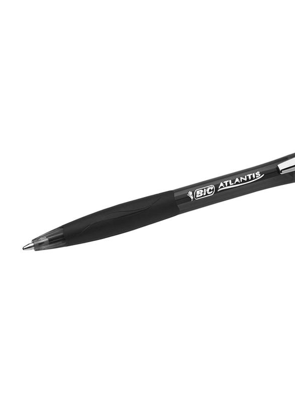 BIC Atlantis Soft Retractable Medium Point Ball Pen, Black