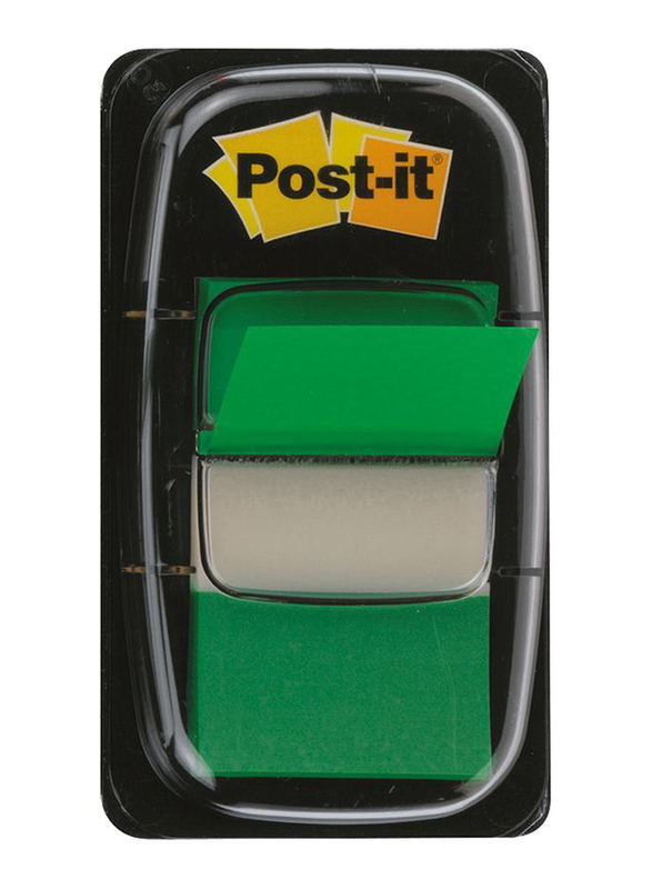 3M Post-It 680-3 Tape Flags, 25.4 x 43.18mm, 50 Sheets, Green