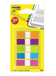 3M Post-It 683-5CB2-EU Index Tape Flags, 11.9 x 43.2mm, 5 x 20 Sheets, Multicolor