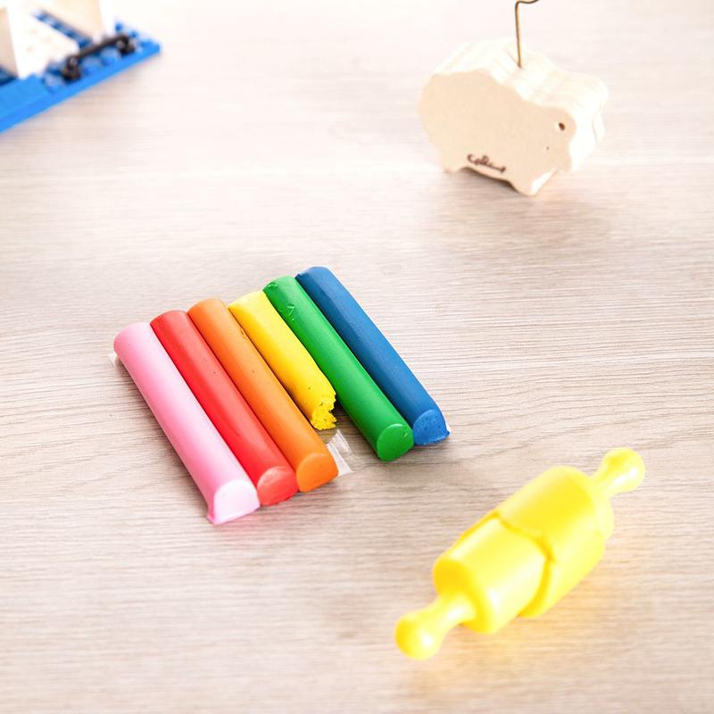 Deli D75011 Plasticine Clay, 6 Pieces, 60 grams, Multicolor