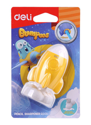 Deli ER00601 Bumpers Pencil Sharpener, 8mm, Multicolor