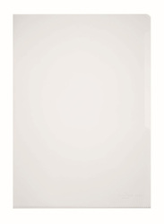 Durable 2339-19 PVC L-Shaped Transparent File Folder, A4 Size, 50 Pieces, White