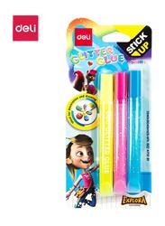 Deli EA71201 Glitter Glue, 3 Pieces, 12ml, Multicolor