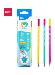Deli EU53000 HB Dipped Head Pencil, 12 Pieces, Multicolor