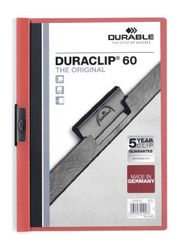 Durable 2209-03 Duraclip, A4 Size, Red