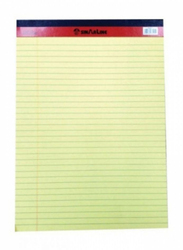 Sinar PD02075 Sinar Legal Pad, 127 x 203mm, 50 Pieces, Yellow