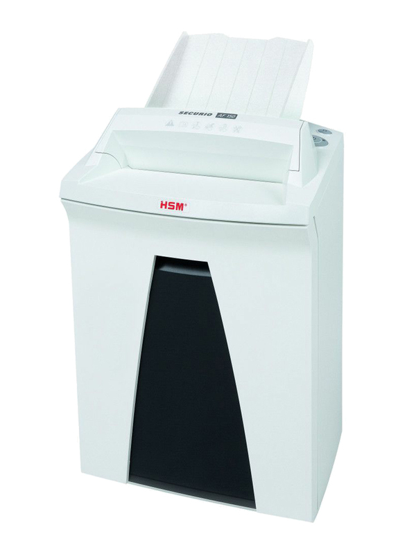 HSM AF150 Cross Cut Shredder, 1.9 x 15mm, 2082, White