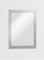Durable 487101 Magnetic Dura Frame, A5 Size, Silver