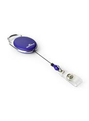 Durable 832407 Press Lock Reel Badge, 10 Pieces, Blue