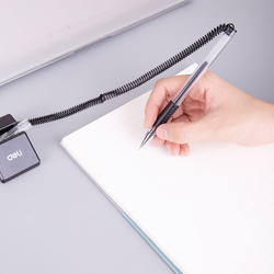 Deli 6791 Gel Ink Counter Pen with Grip, 0.5mm, Blue