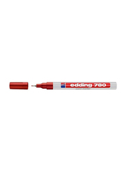 Edding E-780 Permanent Paint Marker with Metal Framed 0.8mm Bullet Point, Red