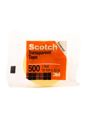 3M Scotch 500-3436C Utility Tape, 19mm x 33 meters, Clear