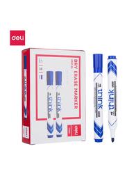Deli U00130 White Board Marker, 12 Pieces, Blue