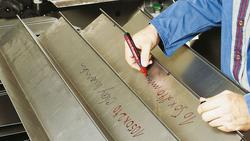 Edding E-330 Permanent Marker with Chisel Nib, Red