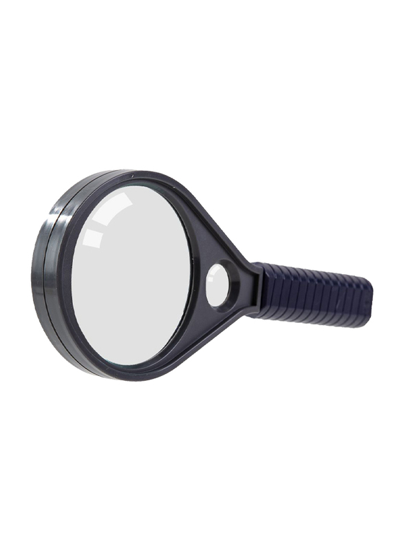 Deli E9090 75mm Lens Magnifying Glass, 1 Piece, Black