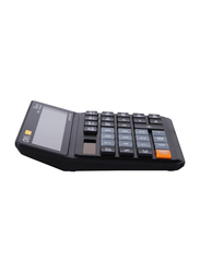 Deli EM01120 12 Digits Calculator with 120 Steps Check, Black