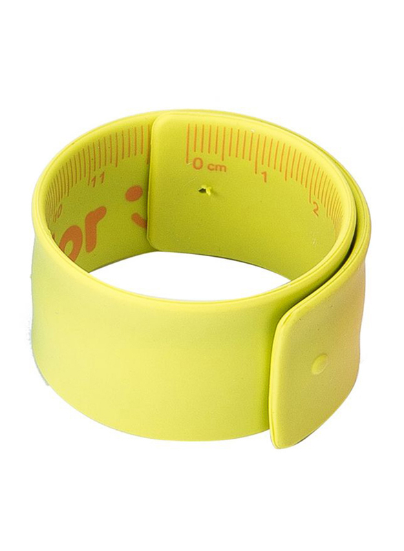 Deli E6206 Neon Color Cartoon Ruler, 180mm, Yellow
