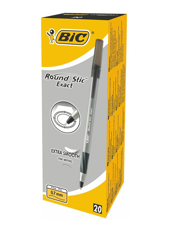 BIC Round Stic Exact Fine Ball Pen, Black