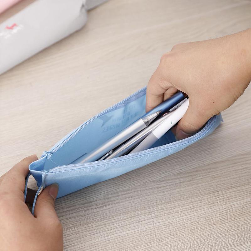 Deli EZ86502 Pencil Pouch, 215 x 40 x 55mm, Blue