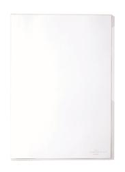 Durable 2319-19 PVC L-Shaped Transparent File Folder, A4 Size, 50 Pieces, Glass Clear