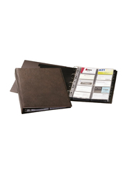 Durable Visifix 2384-11 Business Card Organizer, 400 Cards, A4 Size, Brown