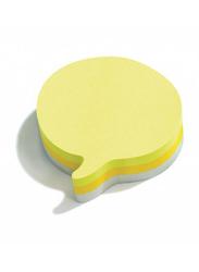 3M Post-It 2007SP-75 Speech Bubble Neon Color Sticky Notes, 76 x 76mm, 3 x 75 Sheets, Multicolor