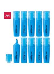 Deli ES621 Highlighter, 10 Pieces, 1-5mm, Blue