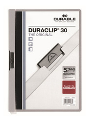 Durable Duraclip 2200-10 30-Sheets Capacity Clip File, A4 Size, Grey