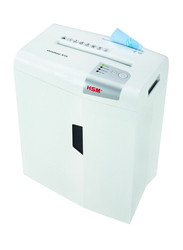 HSM X10 Cross Cut Shredder, 4.5 x 30mm, 1045, White/Silver
