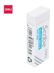 Deli EH00210 Eraser, 20 Pieces, White