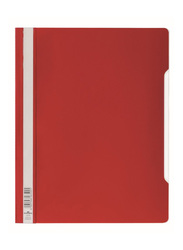 Durable 2570-03 PVC Clear View File Folder, A4 Size, Red