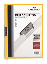 Durable Duraclip 2200-04 30-Sheets Capacity Clip File, A4 Size, Yellow