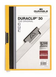 Durable Duraclip 2200-04 30-Sheets Capacity Clip File, A4 Size, Yellow